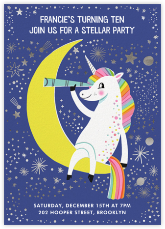 Stargazer - Hello!Lucky - Unicorn invitations