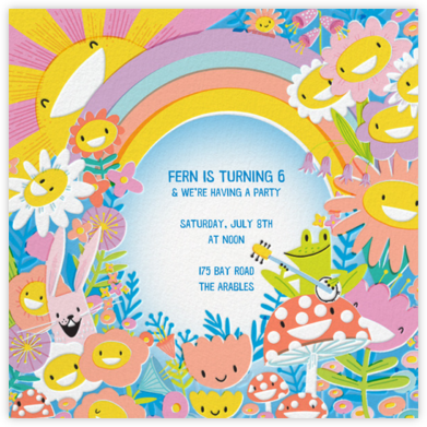 Meadow Yellow - Hello!Lucky - Online Kids' Birthday Invitations