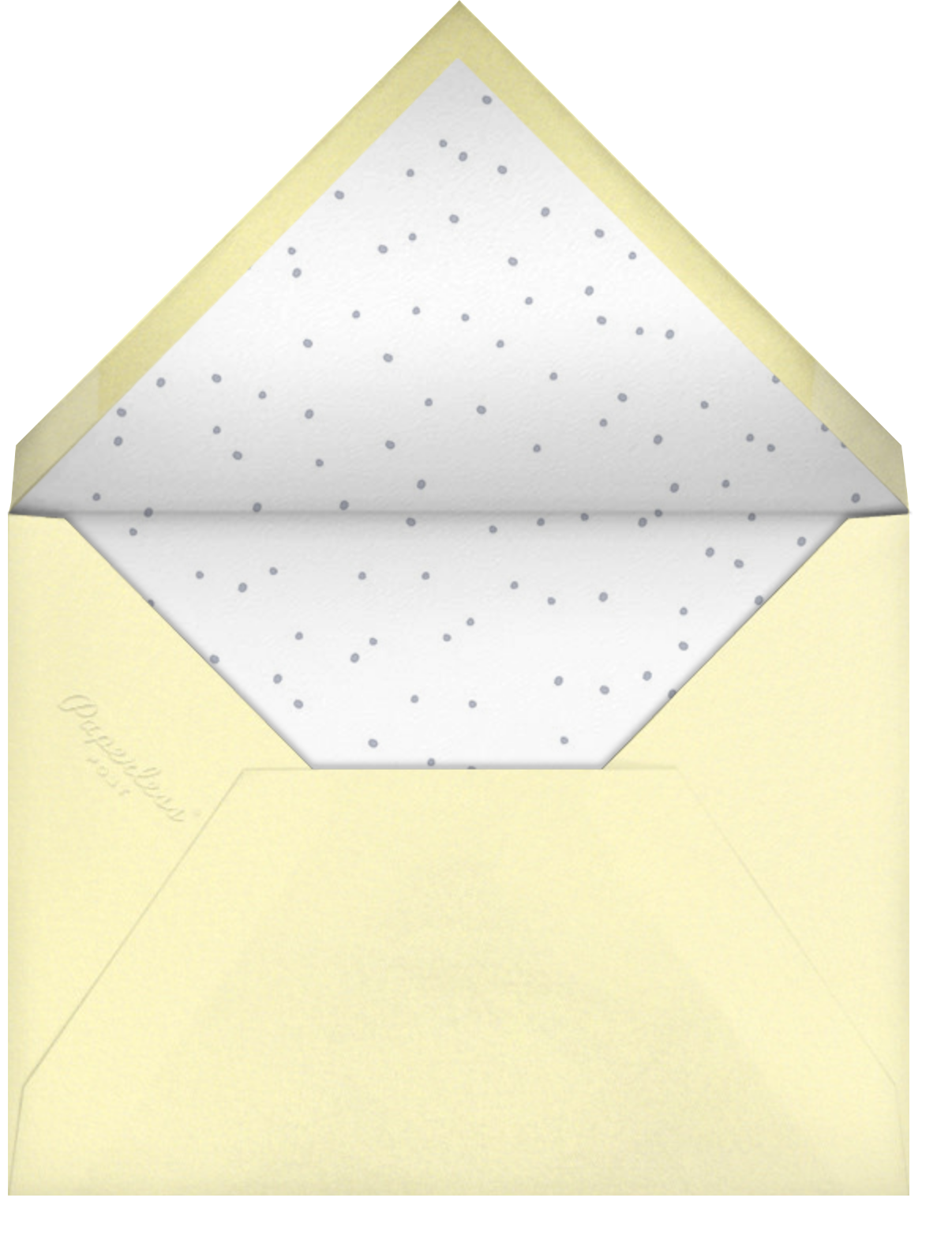 Baby Buzz - Little Cube - Baby shower - envelope back