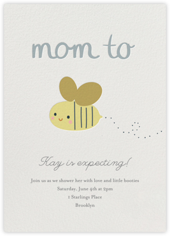 Baby Buzz - Little Cube - Baby Shower Invitations