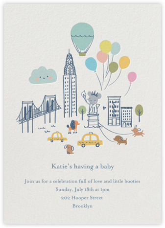 City Mouse - Little Cube - Baby Shower Invitations