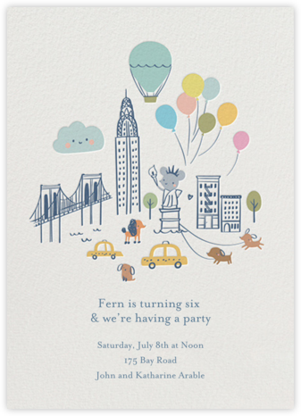 City Mouse - Little Cube - Kids' Birthday Invitations