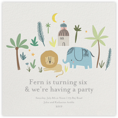 Wild Lands - Little Cube - Kids' Birthday Invitations