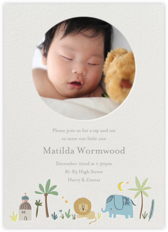 Wild Lands Photo - Little Cube - Baby Shower Invitations