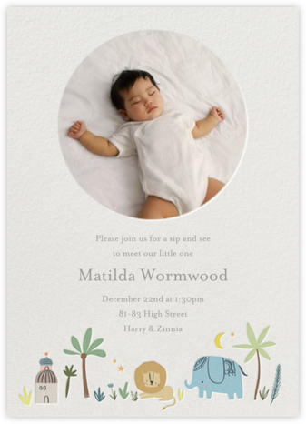 Wild Lands Photo - Little Cube - Celebration invitations