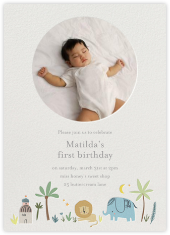 Wild Lands Photo - Little Cube - First Birthday Invitations