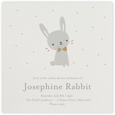 Baby Bunny - Little Cube - Baby Shower Invitations