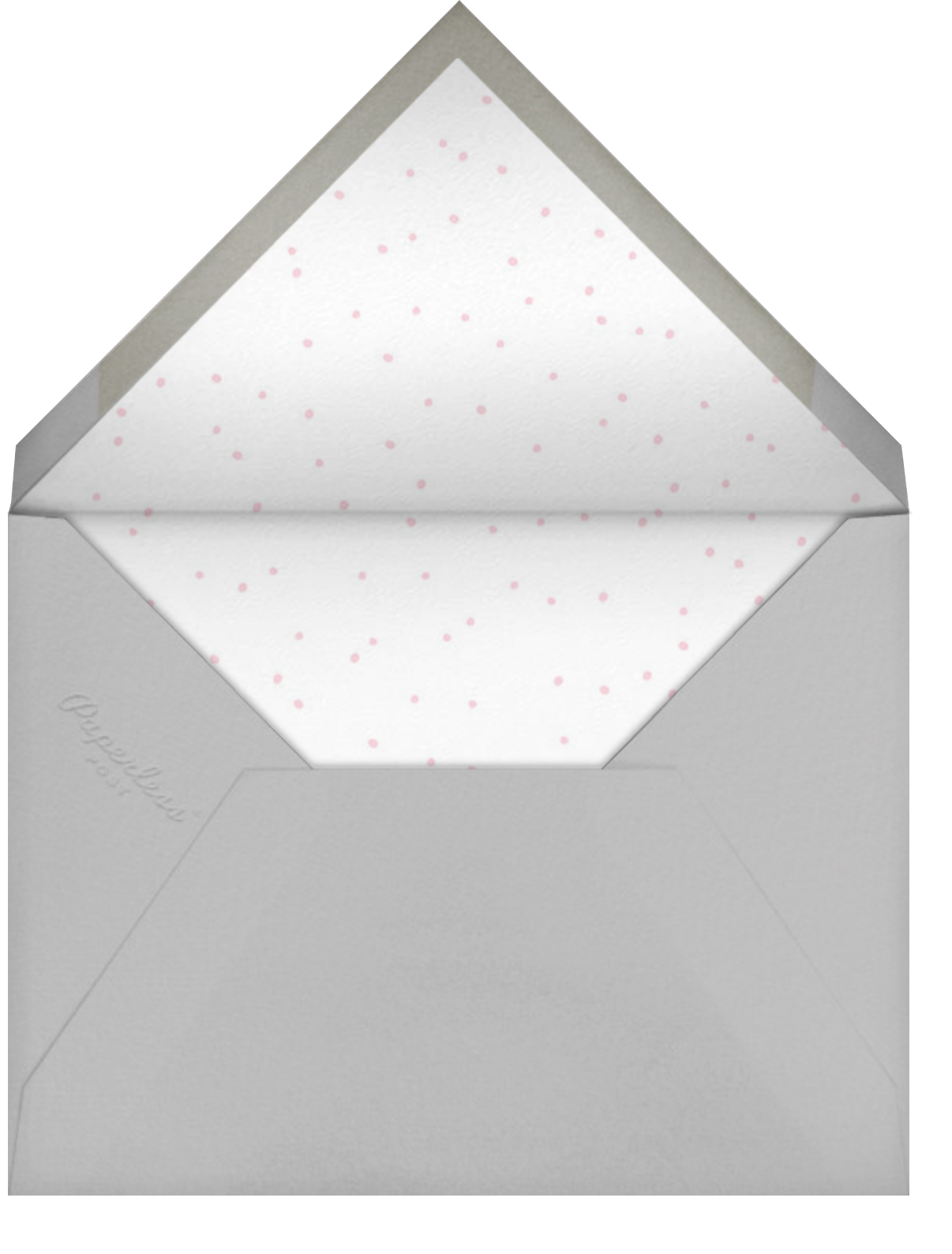Baby Bunny Photo - Little Cube - 1st birthday - envelope back