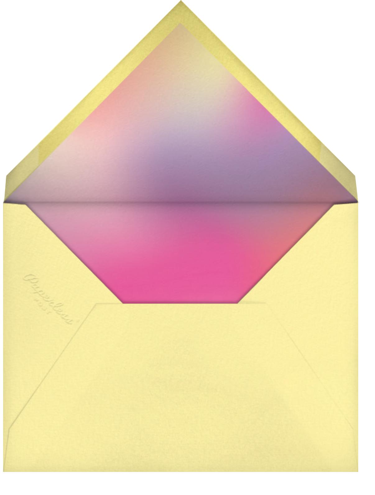 Bat Mitzvah Lighting (Photo) - Horizontal - Paperless Post - Bat and bar mitzvah - envelope back
