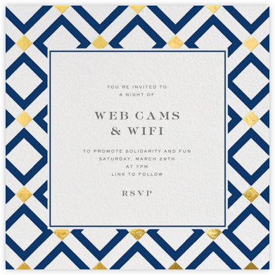 Bobo - Gold and Navy Blue - Jonathan Adler - Virtual Parties