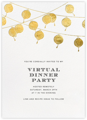 Lanterns - Gold - Paperless Post - Virtual Parties