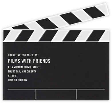 Movie Clapper - Paperless Post - Invitations
