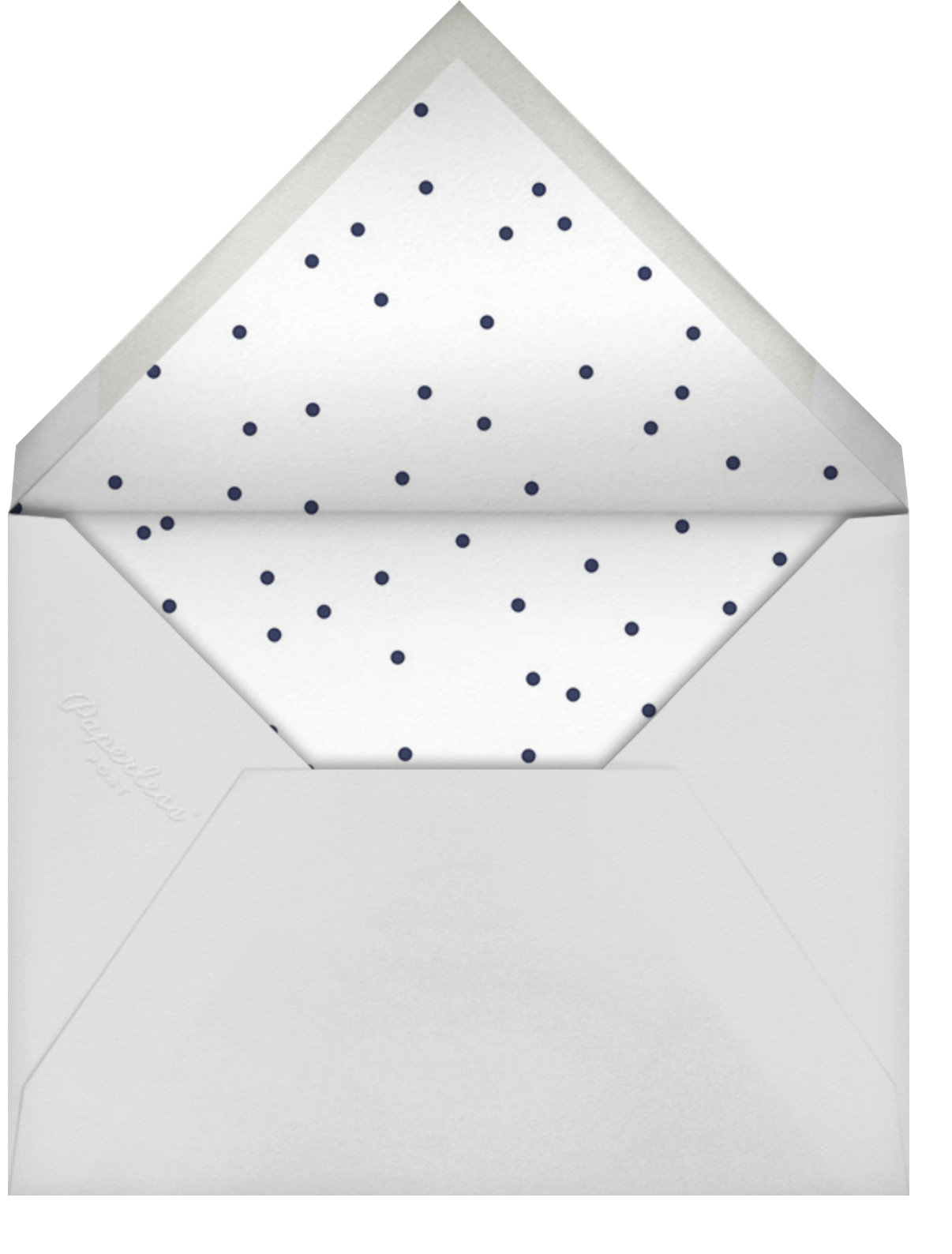 Basic Brushstroke - Bellini - Sugar Paper - Virtual parties - envelope back
