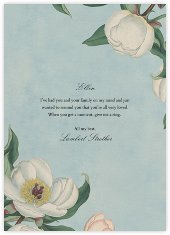White Peony (Greeting) - John Derian - Thinking of you cards