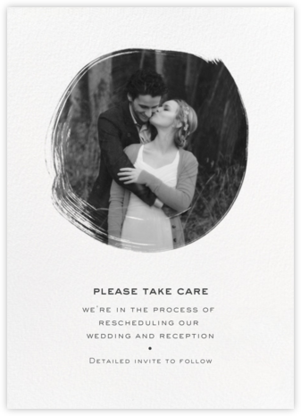 Painted Circle - White - Paperless Post - Wedding Postponement Cards