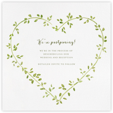 Dahlias (Square) - Paperless Post - Wedding Postponement Cards
