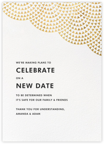 Savoy - Gold - Paperless Post - Wedding Postponement Cards
