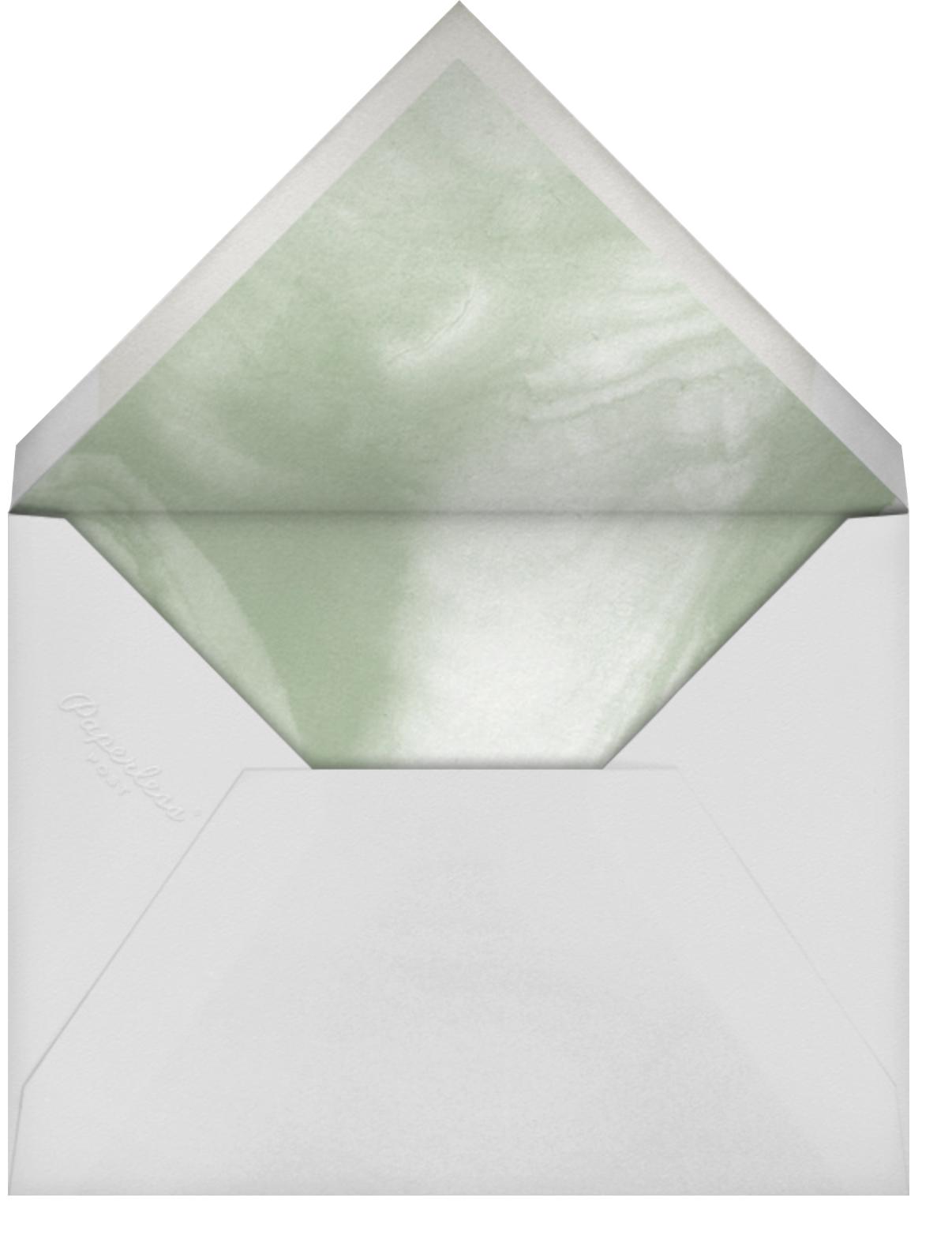 Watercolor Garland - Palm - Paperless Post - Wedding postponement - envelope back