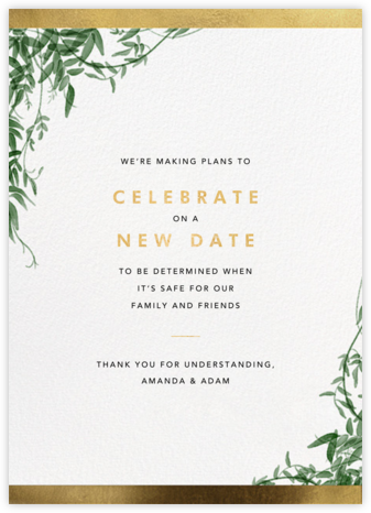 Deanei - Paperless Post - Wedding Postponement Cards