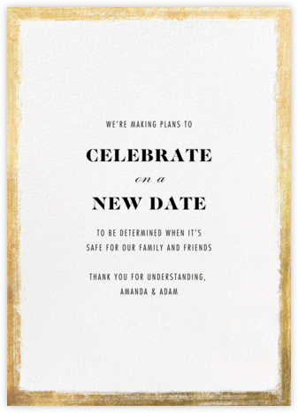 Bristle - Paperless Post - Wedding Postponement Cards