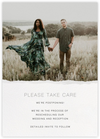 Raw Edge - Paperless Post - Wedding Postponement Cards