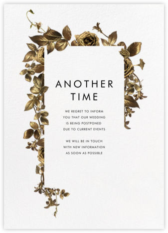 Girardin - Paperless Post - Wedding Postponement Cards