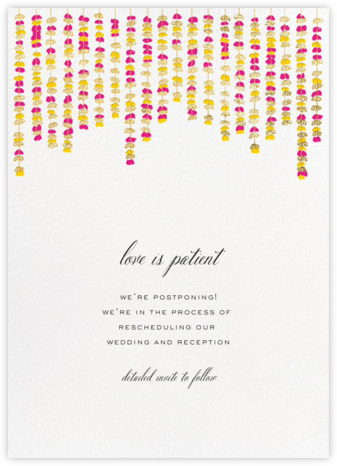 Under the Toran - Bright Pink - Paperless Post - Wedding Invitations