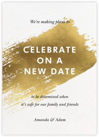 Impasto - Paperless Post - Wedding Postponement Cards