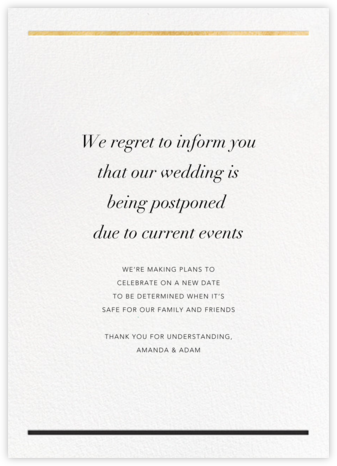 Aubette - Gold - Paperless Post - Wedding Invitations
