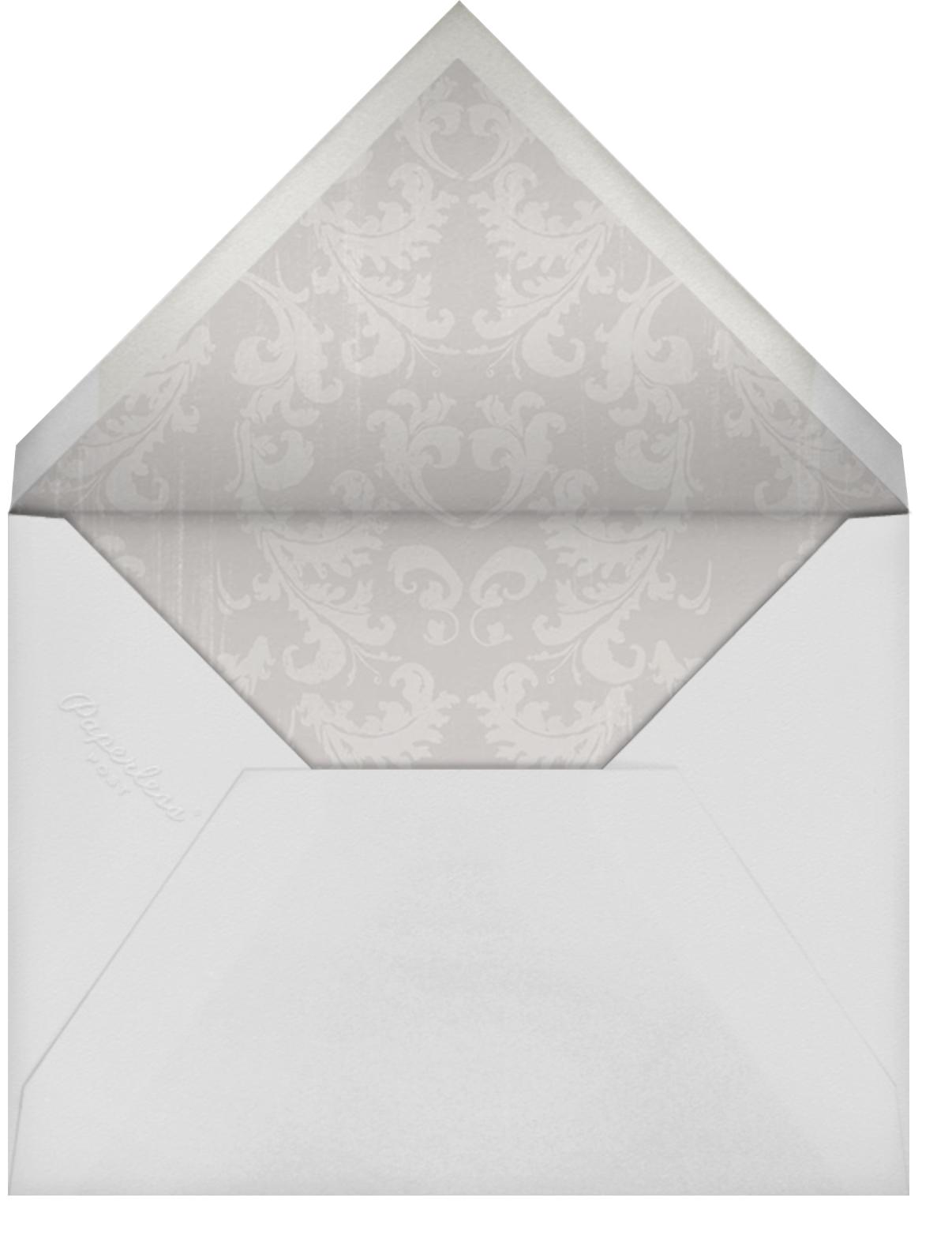 Triple Interior Border (Tall) - Gold - Paperless Post - Wedding postponement - envelope back