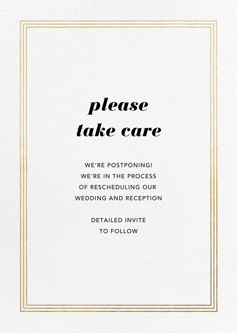 Triple Interior Border (Tall) - Gold - Paperless Post - Wedding postponement