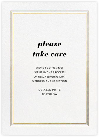 Triple Interior Border (Tall) - Gold - Paperless Post - Wedding Postponement Cards