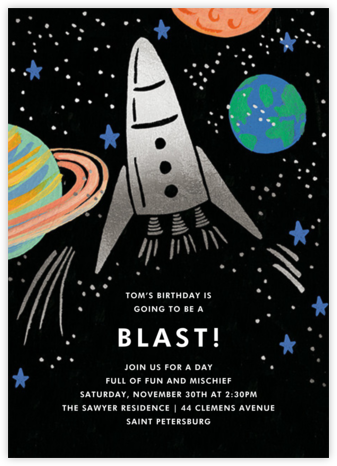 Birthday Blast (Invitation) - Rifle Paper Co. - Online Kids' Birthday Invitations