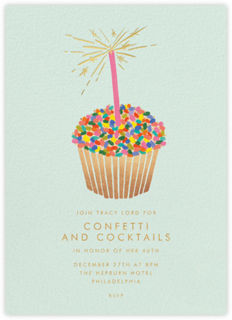 Cupcake Birthday - Rifle Paper Co. - Adult birthday invitations