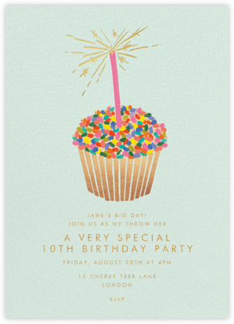 Cupcake Birthday - Rifle Paper Co. - Online Kids' Birthday Invitations