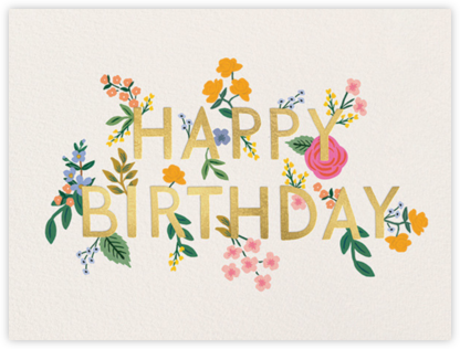 Wildwood Birthday - Rifle Paper Co. - Birthday