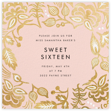 Russian Caravan - Blush - Rifle Paper Co. - Sweet 16 invitations