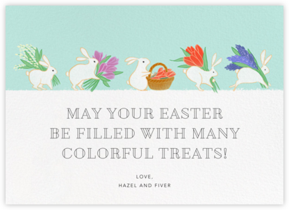 Bunny Blooms - Paperless Post - Easter Cards