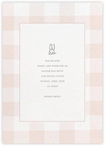 Buffalo Check Bunny - Pink - Sugar Paper -