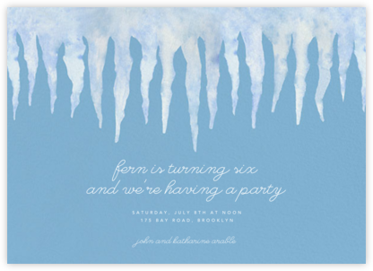 Icicle Eave - Paperless Post - Kids' Birthday Invitations