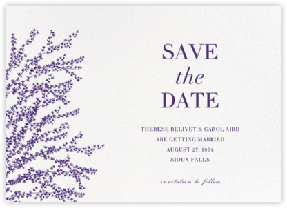 Forsythia (Horizontal) - Mulberry - Paperless Post - Save the dates