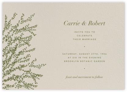 Forsythia (Horizontal) - Olive - Paperless Post - Wedding Invitations