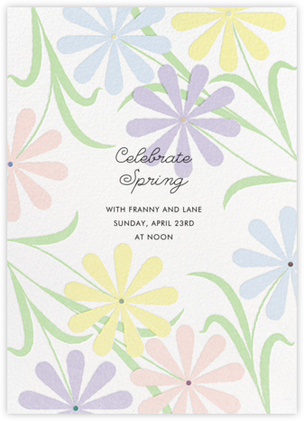 Spring Daisies - Paperless Post - Invitations