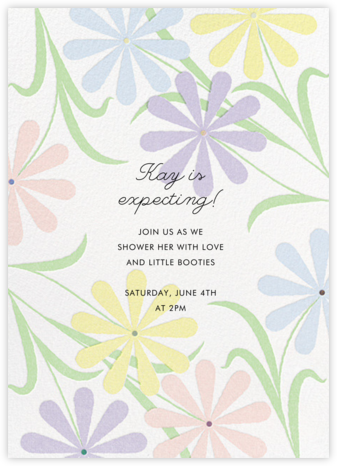Spring Daisies - Paperless Post - Baby Shower Invitations