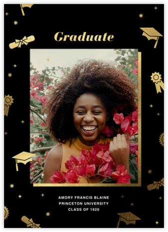 Grad Confetti - Black - Paperless Post - Announcements