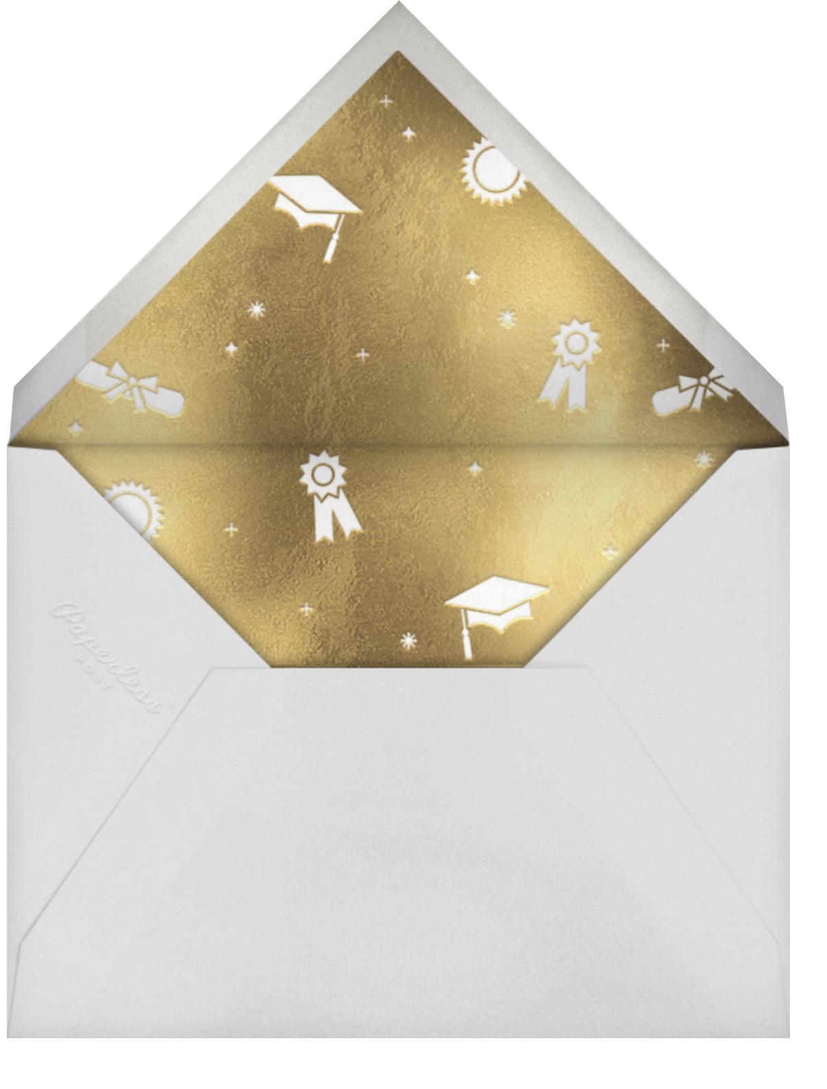 Grad Confetti - Black - Paperless Post - Graduation party - envelope back