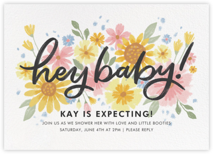 Friendly Flowers - Paperless Post - Baby Shower Invitations