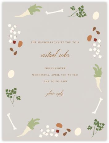 Seder - Paperless Post - Virtual Parties