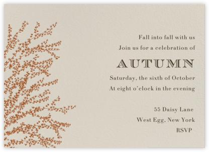 Forsythia (Horizontal) - Pumpkin - Paperless Post - Fall Entertaining Invitations
