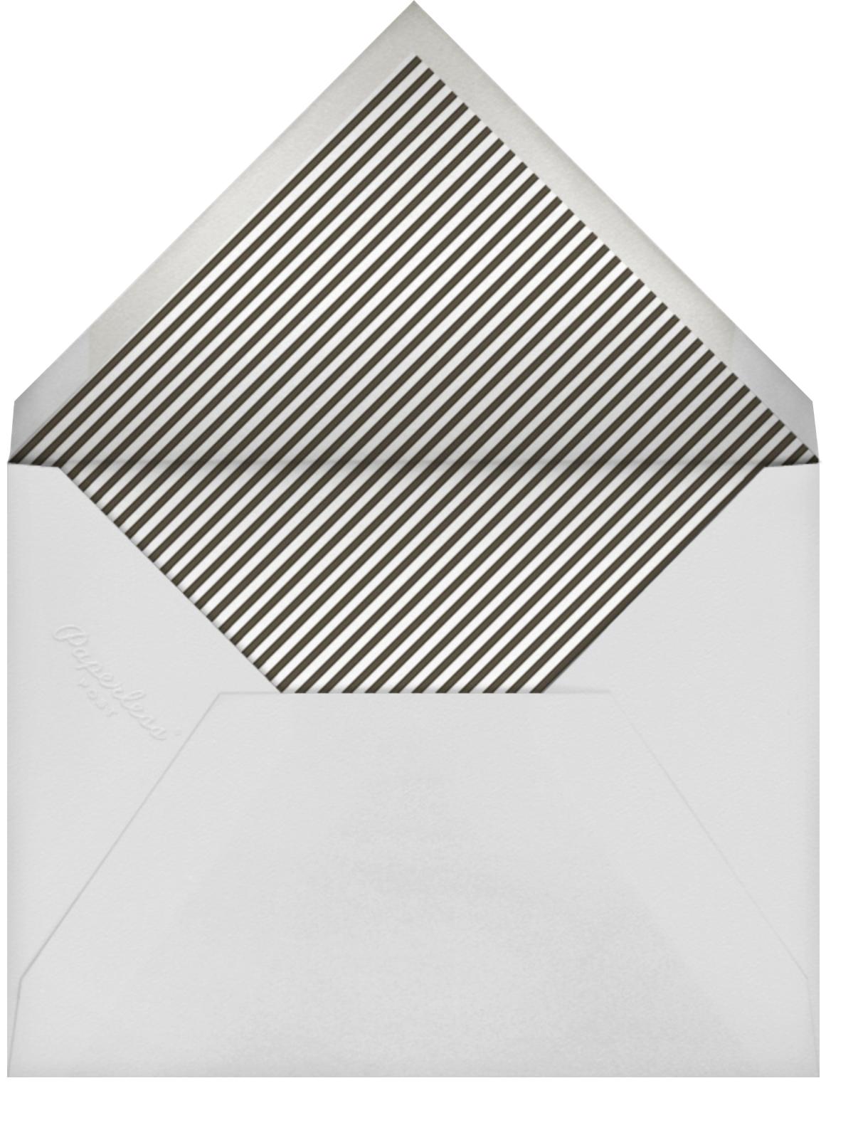 Forsythia (Horizontal) - Silver - Paperless Post - Adult birthday - envelope back